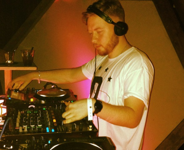 Bashmore near the end of his set.