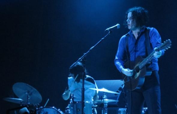 Jack White headlined Not So Silent Night 2012 Day 1 at Oracle Arena.