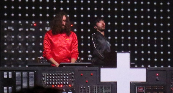 Justice performing at The Warfield in November