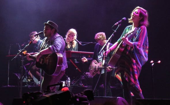 Of Monsters and Men's anthems got a big reaction as their following gets larger.