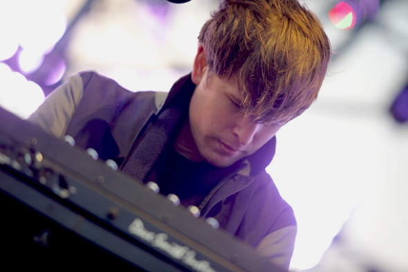 James Blake at Treasure Island Music Festival 10/19. Photo by Marc Fong.