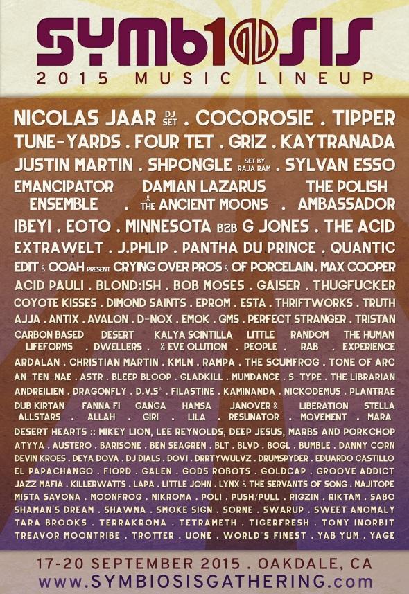 2015 Symbiosis Gathering lineup