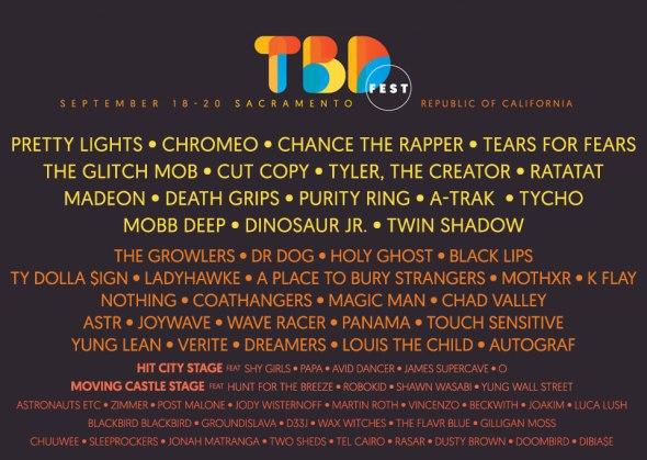 2015 TBD Fest lineup
