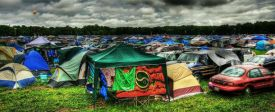 Music festivals - camping