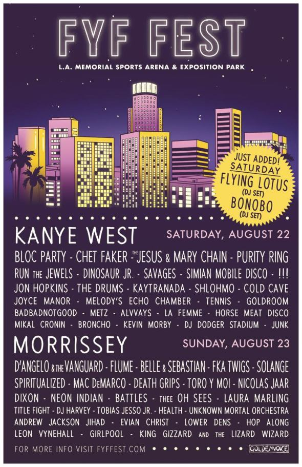 2015 FYF Fest lineup with Flying Lotus & Bonobo