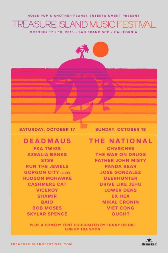 2015 Treasure Island Music Festival daily lineups