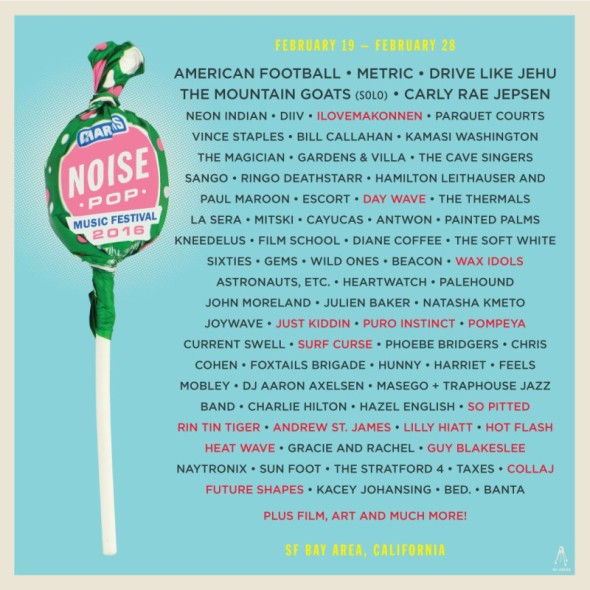 2016 Noise Pop - full lineup
