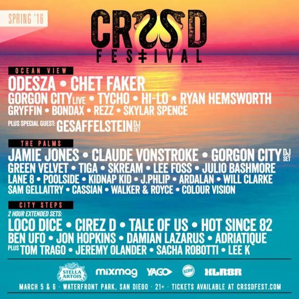 CRSSD Festival Spring 2016 lineup