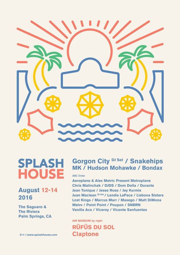 Splash House 2016 - August lineup