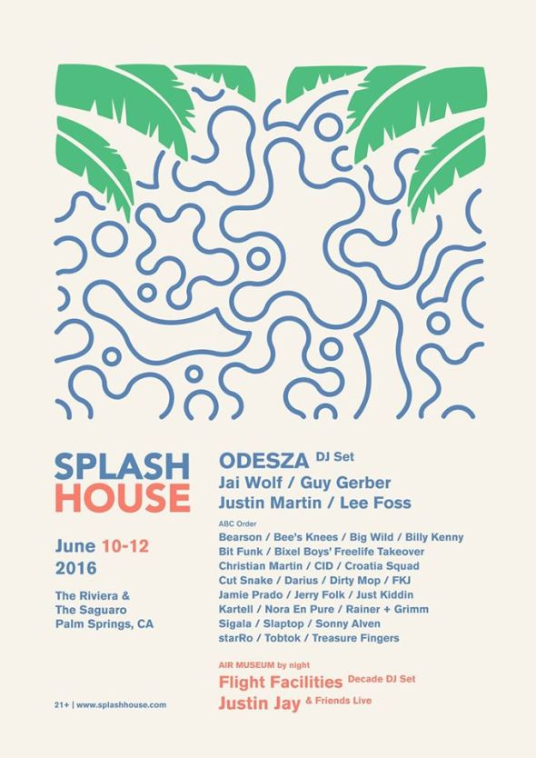 Splash House 2016 - June lineup