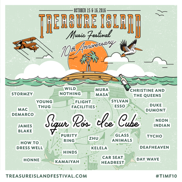 Treasure Island Music Festival 2016 lineup