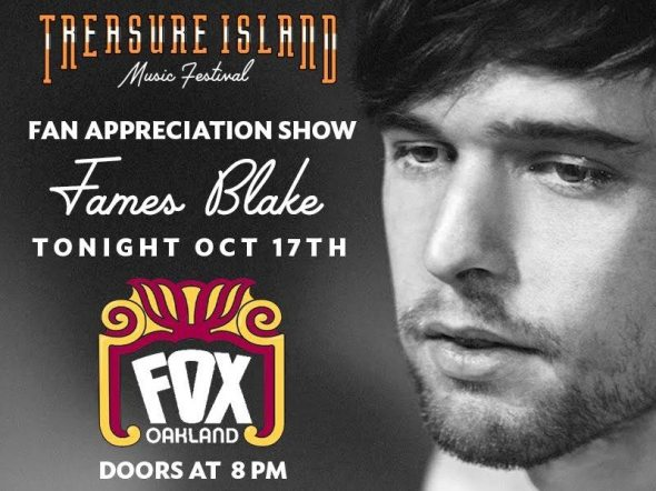 Treasure Island Music Festival 2016 - James Blake at Fox Theater Oakland
