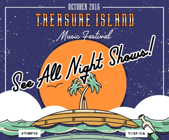 Treasure Island Music Festival 2016 - night shows