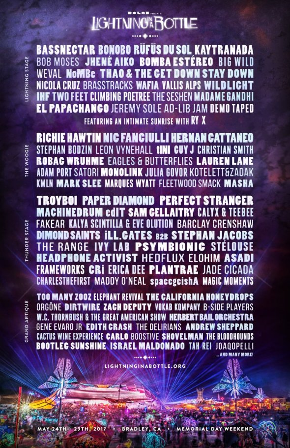 Lightning in a Bottle 2017 lineup