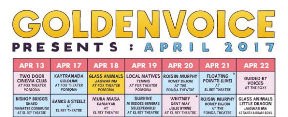 Goldenvoice Presents: April 2017