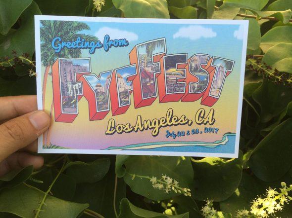 2017 FYF Fest postcard