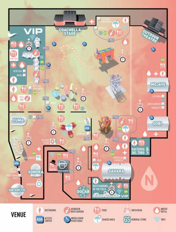 Coachella 2017 - map