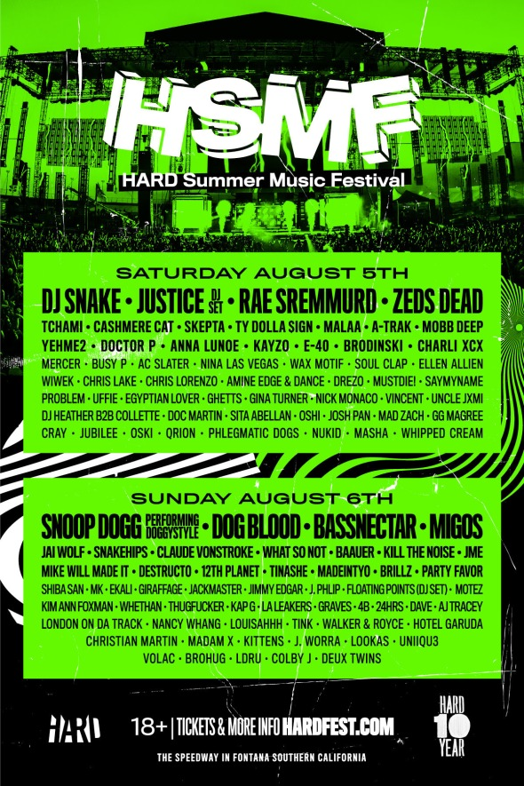 HARD Summer Music Festival - 2017 lineup