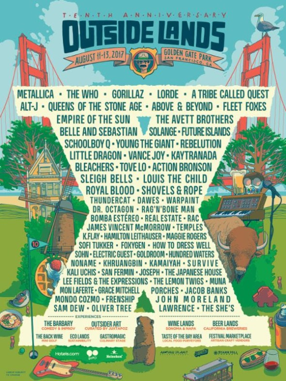 Outside Lands - 2017 lineup