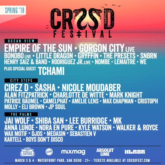 CRSSD Festival - Spring 2018 lineup