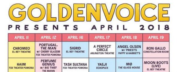 Goldenvoice Presents: April 2018
