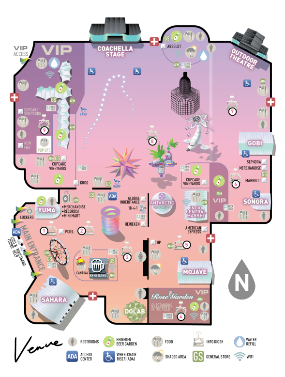 Coachella - 2018 map