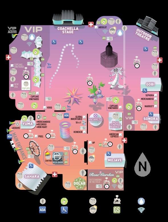 Coachella - 2018 map