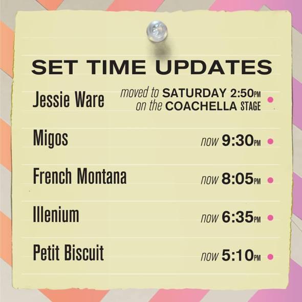 Coachella 2018 - Weekend 2 set time updates