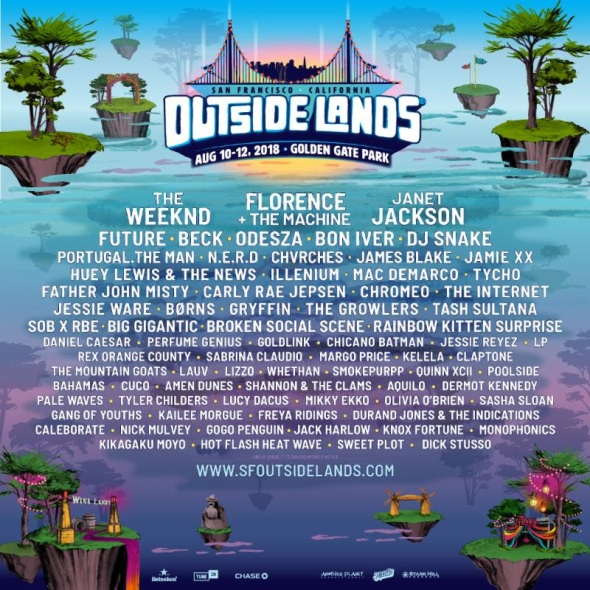 Outside Lands - 2018 lineup