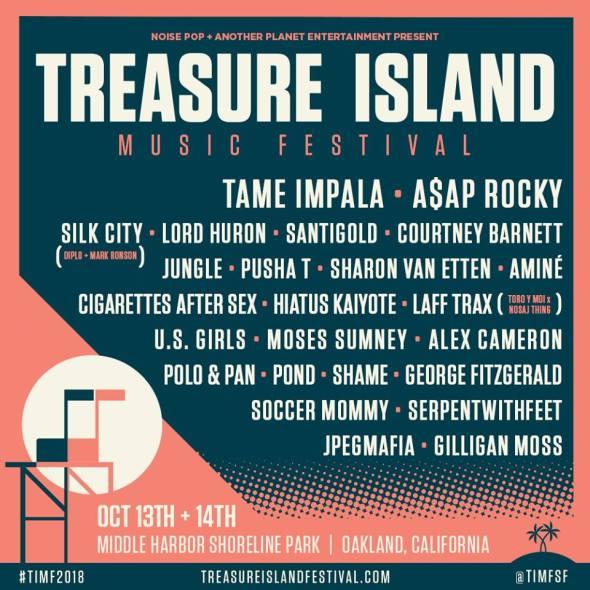 Treasure Island Music Festival - 2018 lineup