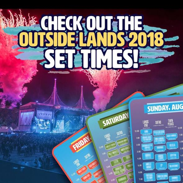 Outside Lands - 2018 schedule