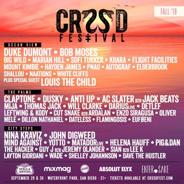 CRSSD Festival - Fall 2018 lineup - Phase 2