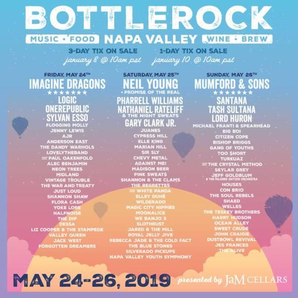 BottleRock - 2019 lineup