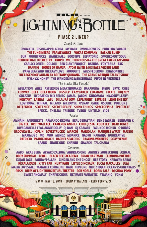 Lightning in a Bottle 2019 - Phase 2 lineup